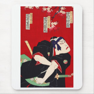 Ichikawa 團 ten 郎, help six of flower river door mouse pad