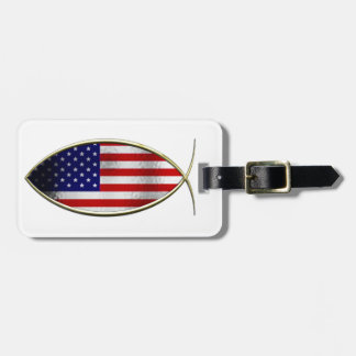 Ichthus - American Flag Luggage Tag