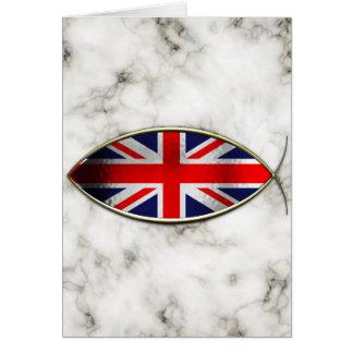 Ichthus - British Flag Greeting Cards