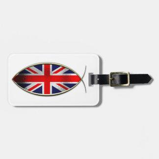 Ichthus - British Flag Luggage Tag