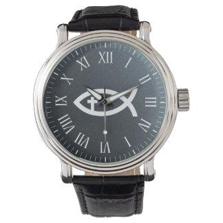 Ichthus | Christian Fish Crucifix Symbol Wristwatch
