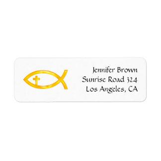 Ichthus - Christian Fish Symbol - Address Label