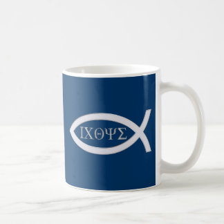 Ichthus | Christian Fish Symbol Basic White Mug