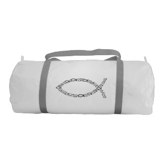 Ichthus Christian Fish Symbol Gym Duffel Bag