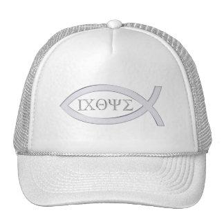 Ichthus - Christian Fish Symbol Mesh Hats