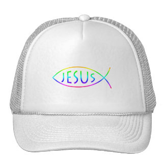Ichthus - Christian Fish Symbol Mesh Hat