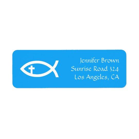 Ichthus - Christian Fish Symbol Return Address Label