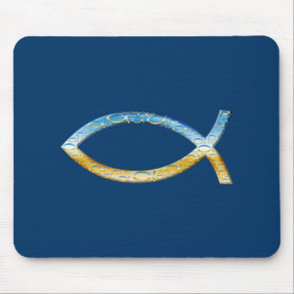 Ichthus - Christian Fish Symbol  Sky & Ground Mouse Pads
