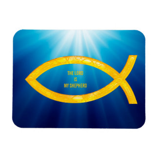 Ichthus - Christian Fish Symbol - Small Fishes Rectangular Photo Magnet