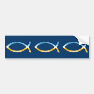 Ichthus - Christian Fish Symbols Bumper Sticker