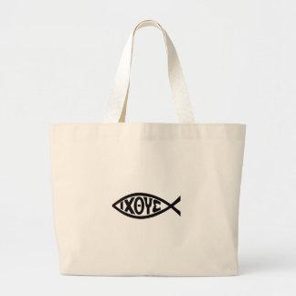 ICHTHUS FISH JUMBO TOTE BAG