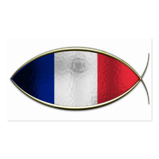 Ichthus - French Flag Business Cards