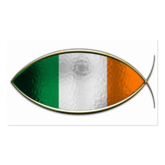 Ichthus - Irish Flag Business Card