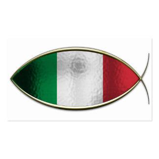 Ichthus - Italian Flag Business Cards