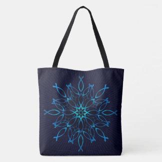 Ichthus Mandala Tote Bag
