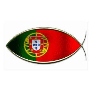 Ichthus - Portugese Flag Business Card Template