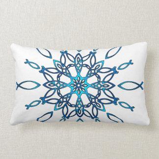 Ichthus Snowflake Lumbar Cushion