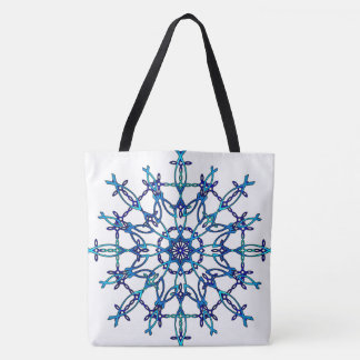 Ichthus Snowflake Tote Bag