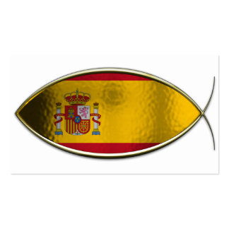 Ichthus - Spanish Flag Business Cards