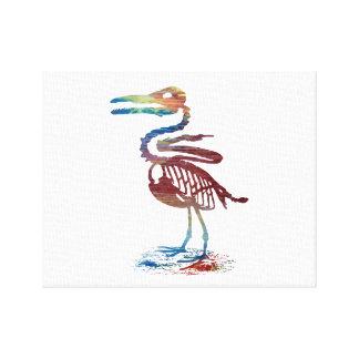 Ichthyornis skeleton canvas print