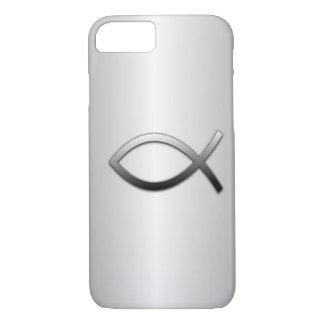 Ichthys Jesus Fish Silver Flare Religious iPhone 7 Case