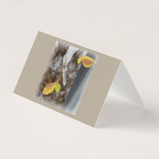 Icicle on leaf card