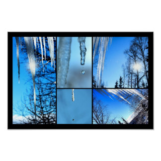 Icicles Melting In the Sun Horizontal Poster