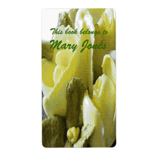 Icing Flowers  Bookplate Shipping Label