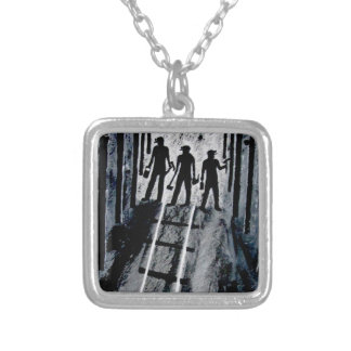 ICoal Miners At Work G_0221.JPG Silver Plated Necklace