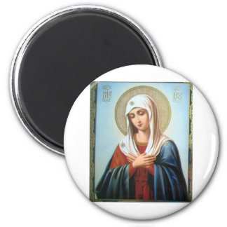 ICON (32)mary mother of good 6 Cm Round Magnet