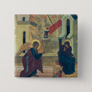 Icon depicting the Annunciation 15 Cm Square Badge