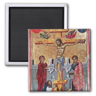 Icon depicting the Crucifixion, 1520 Square Magnet