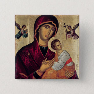 Icon depicting the Holy Mother of the Passion 15 Cm Square Badge
