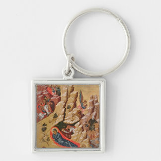 Icon depicting the Nativity Key Ring