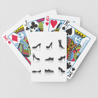 Icon footwear bicycle playing cards