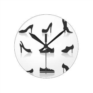 Icon footwear wall clocks