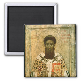Icon of St. Gregory  Archbishop of Thessaloniki Square Magnet