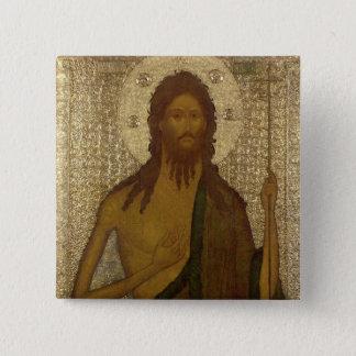 Icon of St. John the Forerunner 15 Cm Square Badge