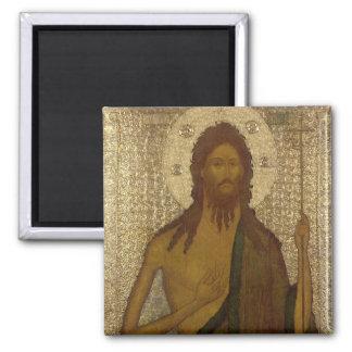 Icon of St. John the Forerunner Square Magnet