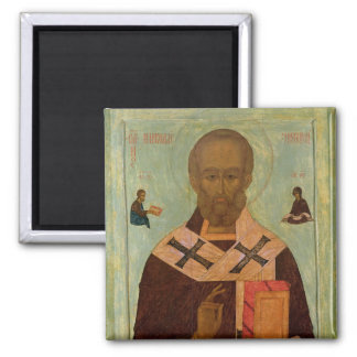 Icon of St. Nicholas Square Magnet