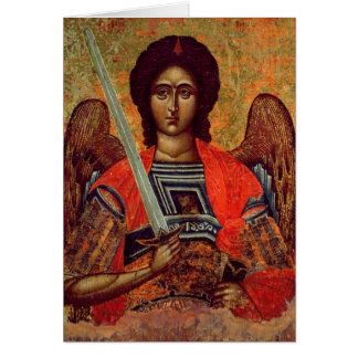 Icon of the Angel Michael, Greek, 18th century Card