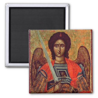 Icon of the Angel Michael, Greek, 18th century Refrigerator Magnets