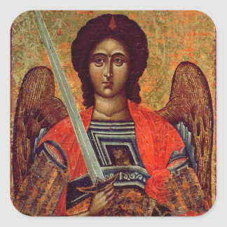 Icon of the Angel Michael, Greek, 18th century Sticker