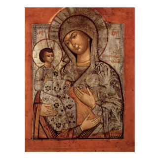 Icon of the Blessed Virgin with Three Hands Postcard