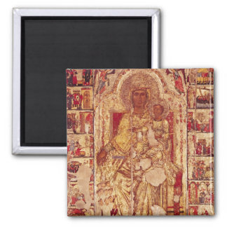 Icon of the Virgin and Child, c.1300 Square Magnet