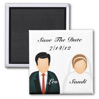Icon Wedding Square Magnet