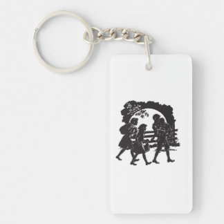 Iconic Boxcar Children Silhouette Key Ring