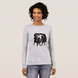 Iconic Boxcar Children Silhouette Long Sleeve T-Shirt