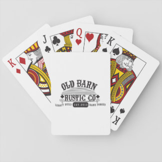 Iconic Branded Old Barn Rustic Playing Cards