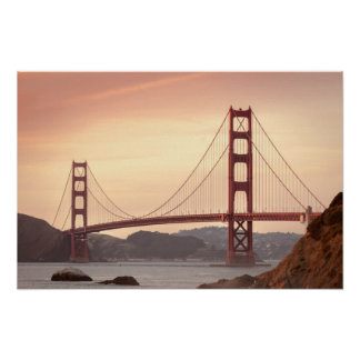 Iconic Bridge Golden Gate San Francisco California Poster